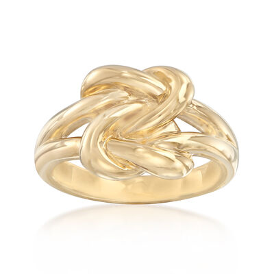 14kt Yellow Gold Double Love Knot Ring, , default