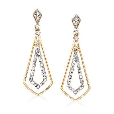 .30 ct. t.w. Diamond Drop Earrings in 14kt Yellow Gold