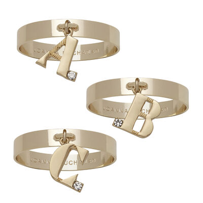 Joanna Buchanan Set of 4 Single Initial Napkin Rings, , default