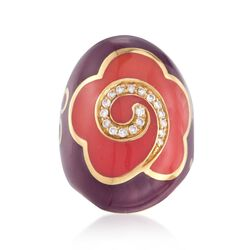C. 2000 Vintage La Nouvelle Bague .25 ct. t.w. Diamond Ring in 18kt Yellow Gold , , default