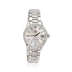 TAG Heuer Carrera Women's 32mm .62 ct. t.w. Diamond Watch in Stainless Steel, , default