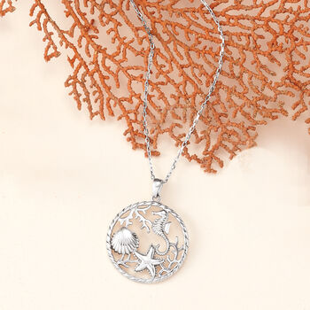 Sterling Silver Sea Life Pendant Necklace