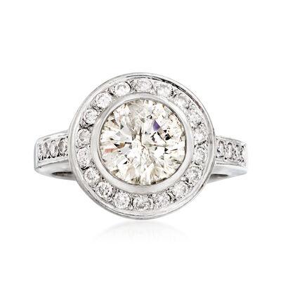C. 1990 Vintage 2.75 ct. t.w. Diamond Fashion Ring in 14kt White Gold
