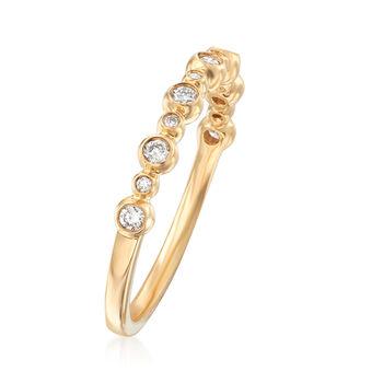 Henri Daussi .18 ct. t.w. Diamond Wedding Ring in 14kt Yellow Gold, , default