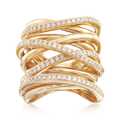 .80 ct. t.w. Diamond Highway Ring in 14kt Yellow Gold, , default