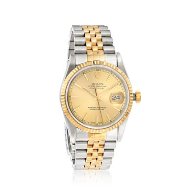 Pre-Owned Rolex Datejust Men's 36mm Automatic Watch in Two-Tone