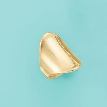Italian Andiamo 14kt Yellow Gold Wide Polished Ring, , default