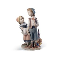 "Lladro ""Hansel and Gretel"" Porcelain Figurine, , default"