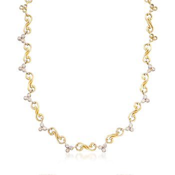 """C. 2000 Vintage Seidengang 1.40 ct. t.w. Diamond Swirl Link Necklace in 18kt Yellow Gold. 16"""", , default"""
