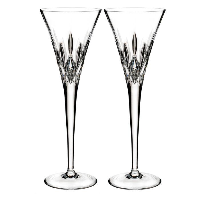 """Waterford Crystal """"Pops"""" Set of 2 Lismore Flute Glasses, , default"""