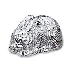 Reed & Barton Silverplate Bunny Music Box, , default