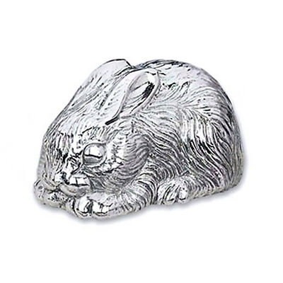 Reed & Barton Silverplate Bunny Music Box, , default