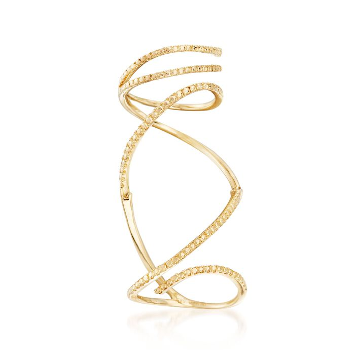 14kt Yellow Gold Knuckle-Wrap Ring. Size 5, , default