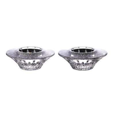 """Waterford Crystal """"Lismore"""" Set of 2 Votive Candle Holders"""