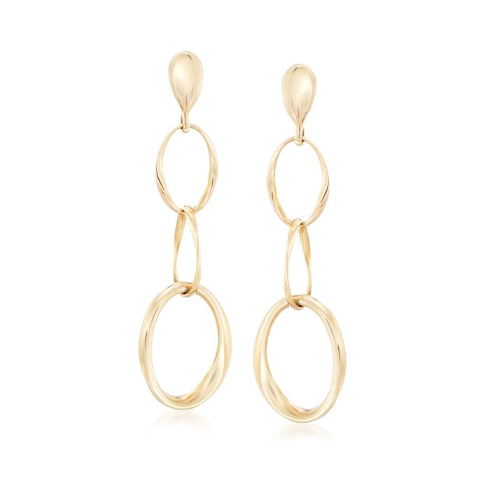 Roberto Coin Three Circle Drop Earrings in 18kt Yellow Gold , , default