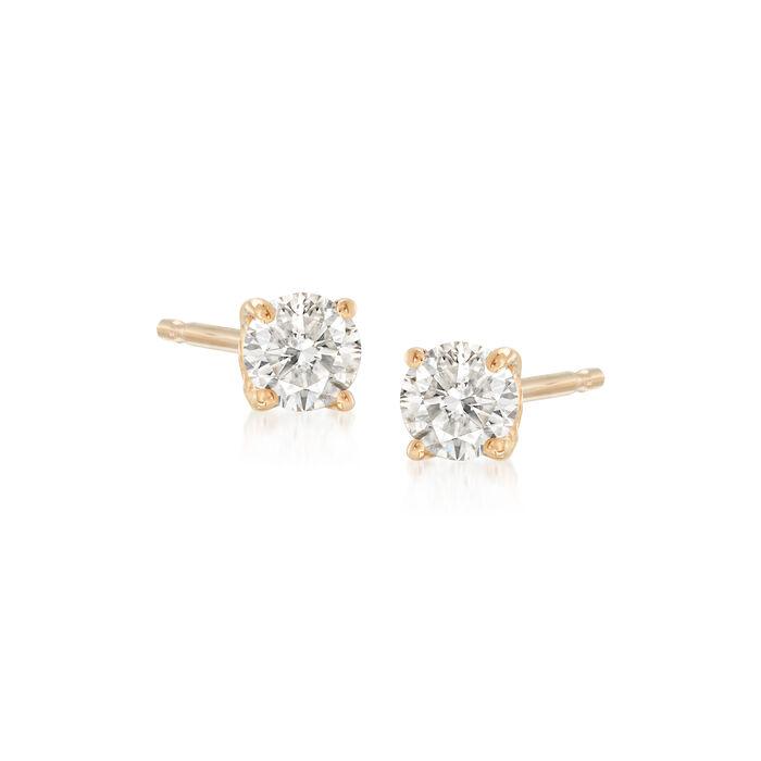 .25 ct. t.w. Diamond Stud Earrings in 14kt Yellow Gold, , default
