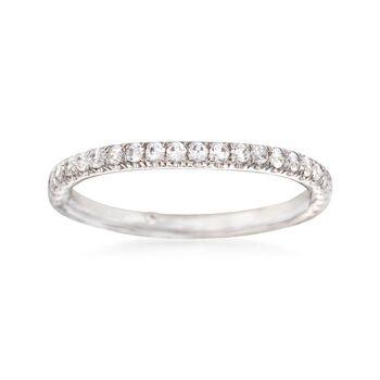 Gabriel Designs .31 ct. t.w. Diamond Wedding Ring in 14kt White Gold, , default