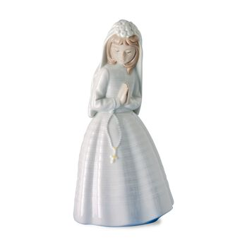 "Nao ""Girl Praying"" First Communion Porcelain Figurine, , default"