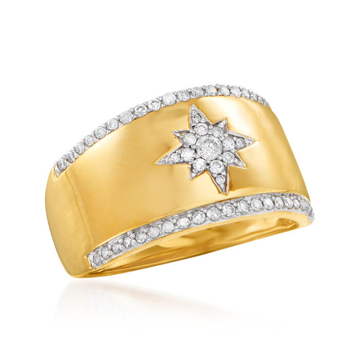 .33 ct. t.w. Diamond Star Ring in 14kt Yellow Gold