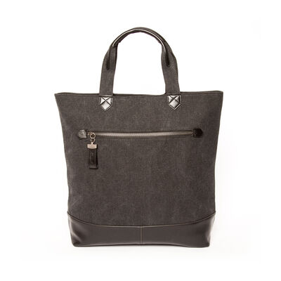 "Brouk & Co. ""Excursion"" Black Waxed Canvas Tote Bag"