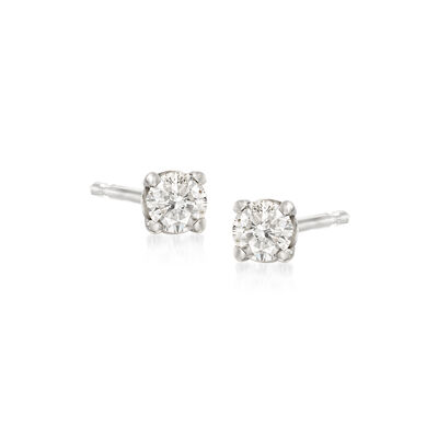 .10 ct. t.w. Diamond Stud Earrings in 14kt White Gold, , default