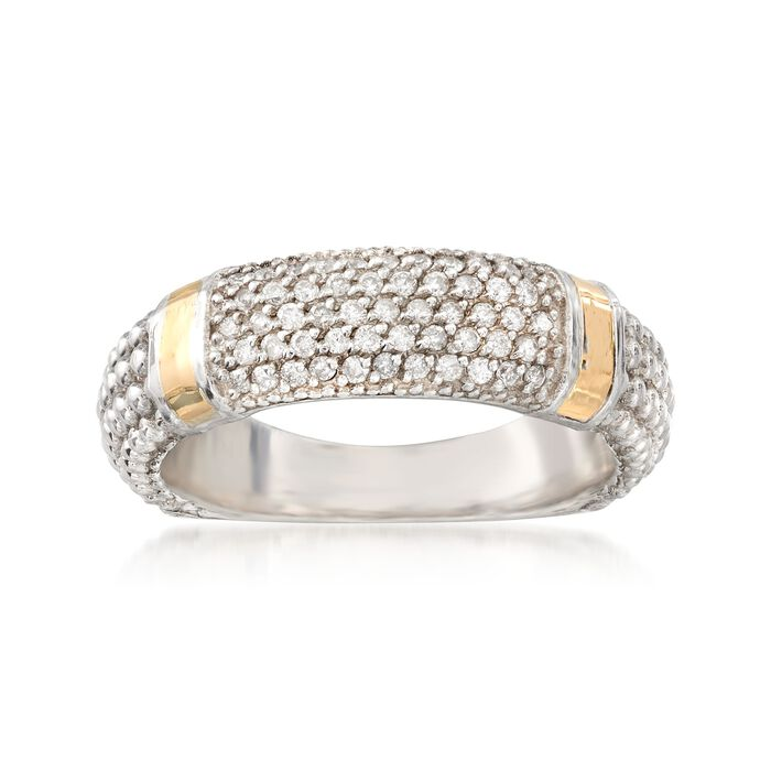 """Phillip Gavriel """"Popcorn"""" .26 ct. t.w. Diamond Ring in Sterling Silver and 18kt Gold, , default"""