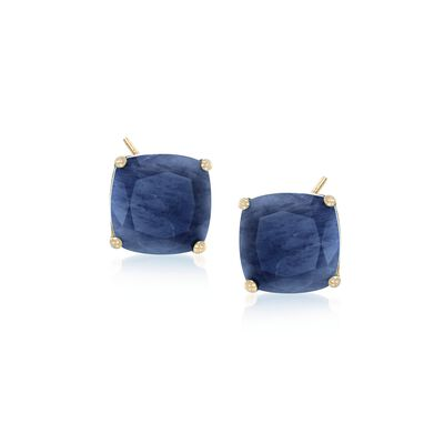 7.75 ct. t.w. Opaque Sapphire Earrings in 14kt Yellow Gold, , default