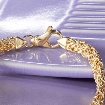 18kt Gold Over Sterling Silver Byzantine Necklace