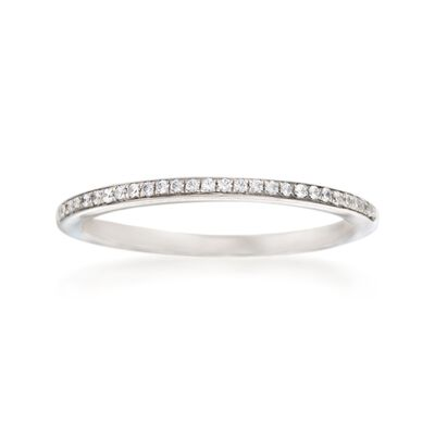 Simon G. .10 ct. t.w. Diamond Wedding Ring in 18kt White Gold