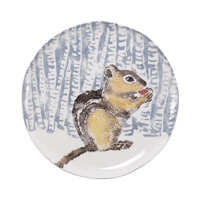 "Vietri ""Into the Woods"" Chipmunk Small Platter from Italy"