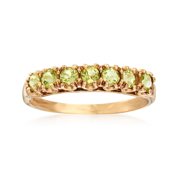 C. 1990 Vintage .70 ct. t.w. Peridot Ring in 10kt Yellow Gold. Size 7, , default