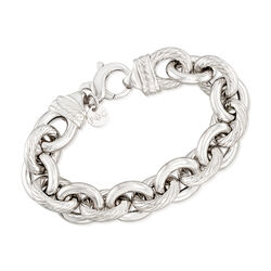 "Phillip Gavriel ""Italian Cable"" Sterling Silver Cable-Link Bracelet, , default"
