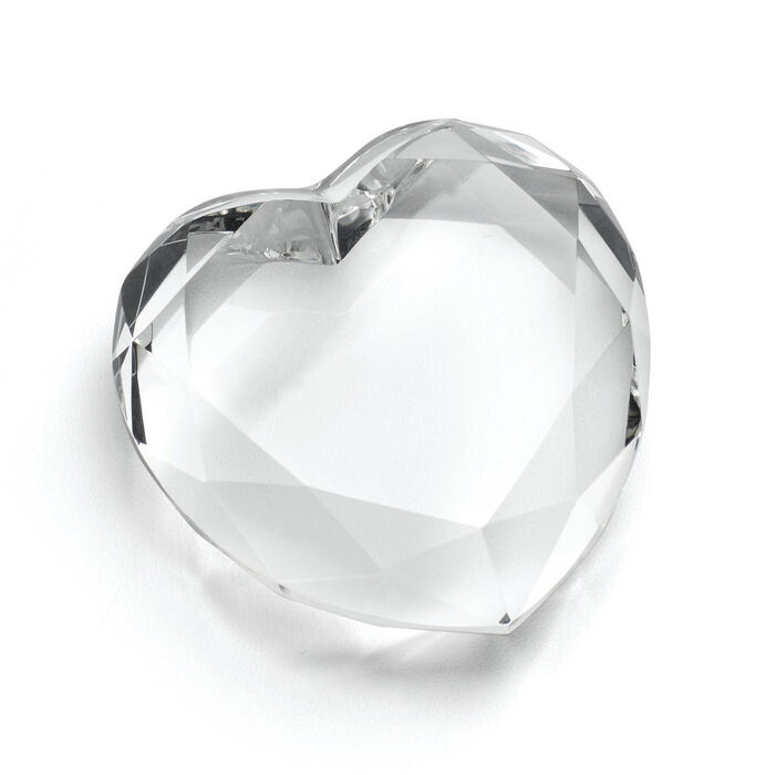 "Reed & Barton ""Precious Hearts"" Crystal Paperweight, , default"