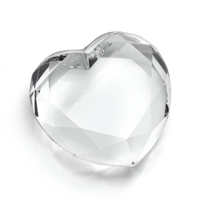 """Reed & Barton """"Precious Hearts"""" Crystal Paperweight"""