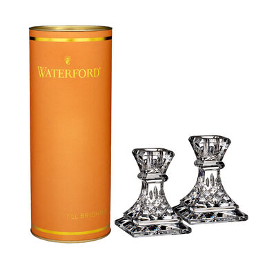 "Waterford Crystal ""Giftology"" Set of Two Lismore Candlesticks, , default"