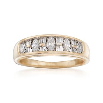 C. 1990 Vintage .50 ct. t.w. Diamond Ring in 14kt Yellow Gold. Size 7, , default