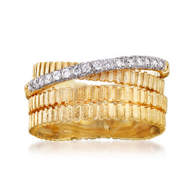 .10 ct. t.w. Diamond Multi-Row Ring in 14kt Yellow Gold, , default