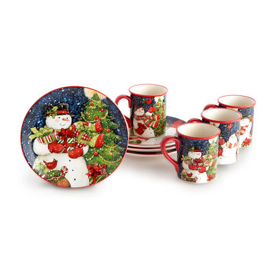 Starry Night Snowman Dinnerware