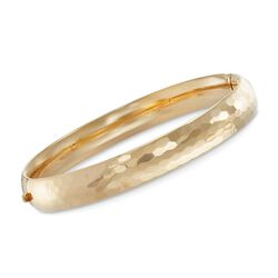 "14kt Gold Over Sterling Silver Honeycomb Bangle Bracelet. 7.5"", , default"