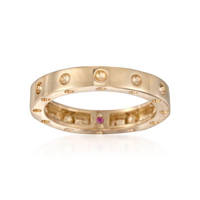 """Roberto Coin """"Pois-Moi"""" 18kt Yellow Gold Dotted Ring. Size 7, , default"""