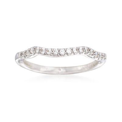 Gabriel Designs .17 ct. t.w. Diamond Wedding Ring in 14kt White Gold, , default