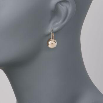 Italian 13mm 18kt Yellow Gold Sphere Earrings, , default