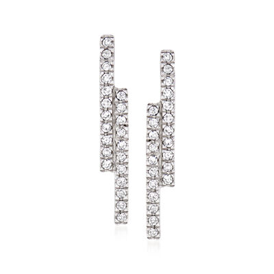 .13 ct. t.w. Diamond Linear Earrings in 14kt Yellow Gold