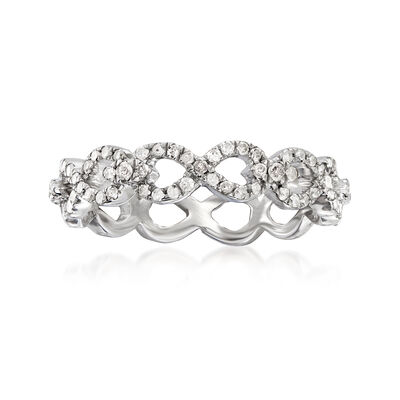 .50 ct. t.w. Diamond Infinity Eternity Ring in Sterling Silver