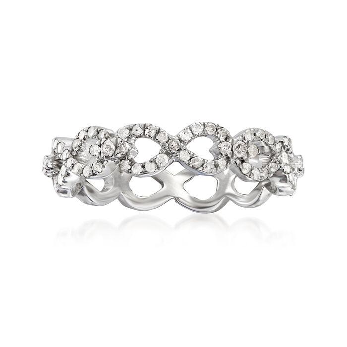 .50 ct. t.w. Diamond Infinity Eternity Ring in Sterling Silver