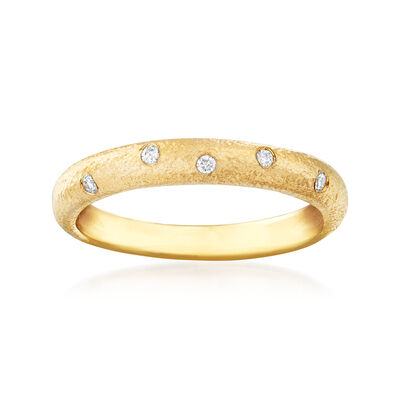 14kt Yellow Gold Ring with Diamond Accents, , default