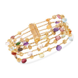 C. 2000 Vintage Marco Bicego 13.50 ct. t.w. Multi-Stone Multi-Strand Bracelet in 18kt Yellow Gold, , default