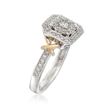 .50 ct. t.w. Diamond Halo Ring in 14kt Two-Tone Gold, , default
