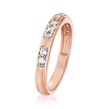.23 ct. t.w. Diamond Station Ring in 14kt Rose Gold