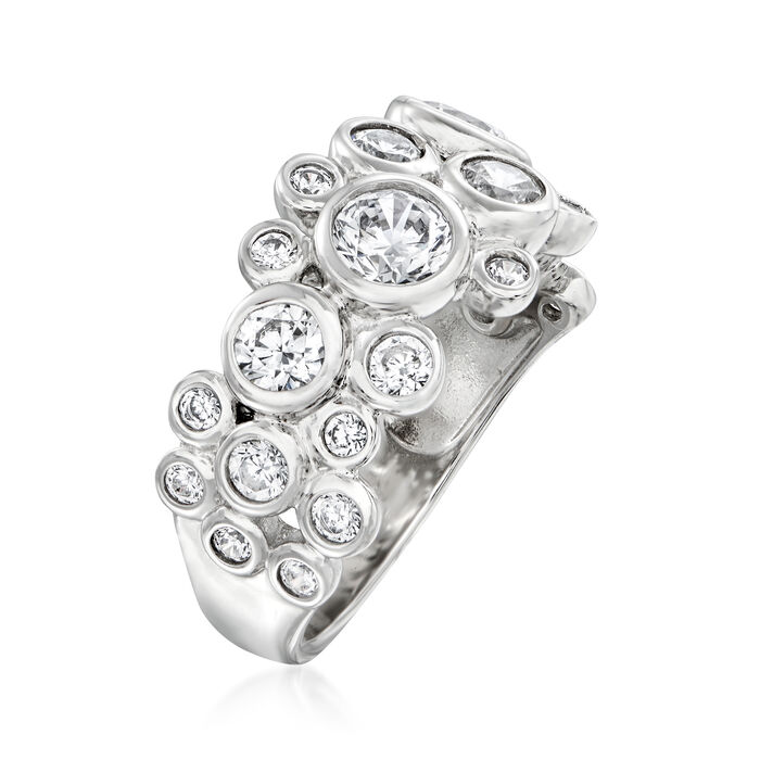 1.80 ct. t.w. CZ Ring in Sterling Silver